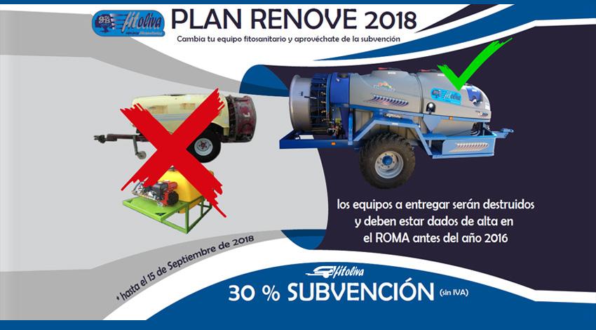 Plan Renove Agrícola 2018